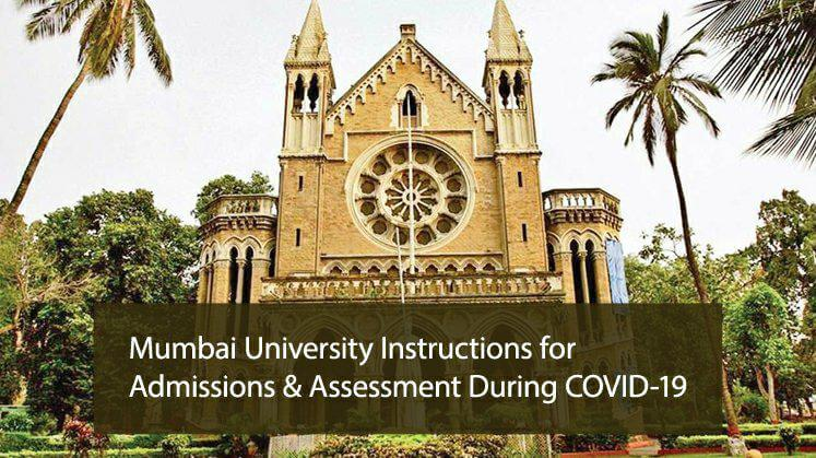 Mumbai University Instructions for Admissions & Assessment During COVID-19